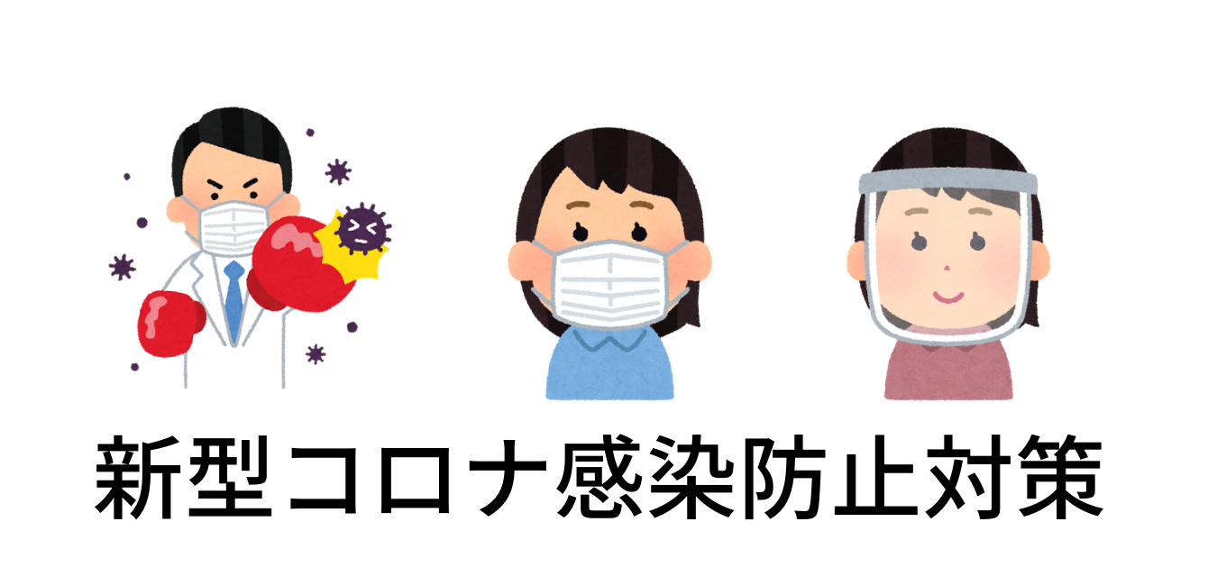 新型コロナ感染防止対策のイメージ